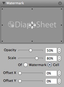 DiapoSheet | Watermark panel