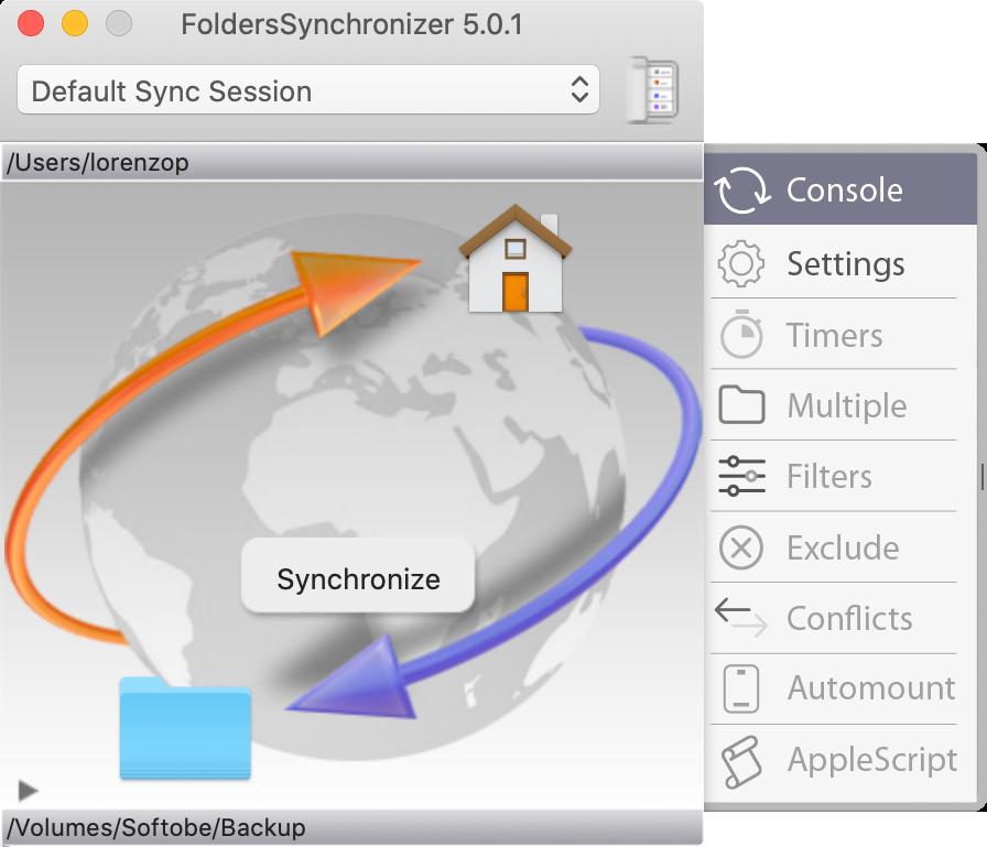 FoldersSynchronizer 4.3 - Sync and Backup on OS X Image